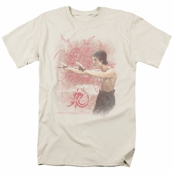 Bruce Lee t-shirt Power Of The Dragon mens cream
