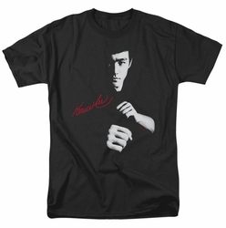 Bruce Lee t-shirt The Dragon Awaits mens black