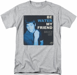 Bruce Lee t-shirt Water mens athletic heather