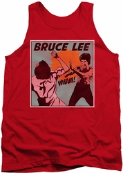 Bruce Lee tank top Comic Panel adult red
