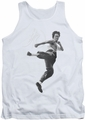 Bruce Lee tank top Flying Kick adult white