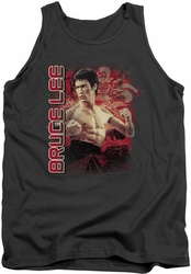 Bruce Lee tank top Fury adult charcoal