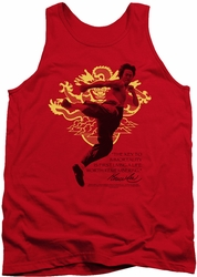 Bruce Lee tank top Immortal Dragon adult red