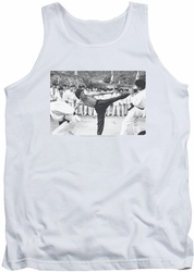 Bruce Lee tank top Kick To The Head adult white