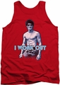 Bruce Lee tank top Lee Works Out adult red