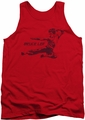 Bruce Lee tank top Line Kick adult red