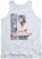 Bruce Lee tank top Revving Up adult white