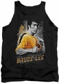 Bruce Lee tank top Yellow Dragon adult black