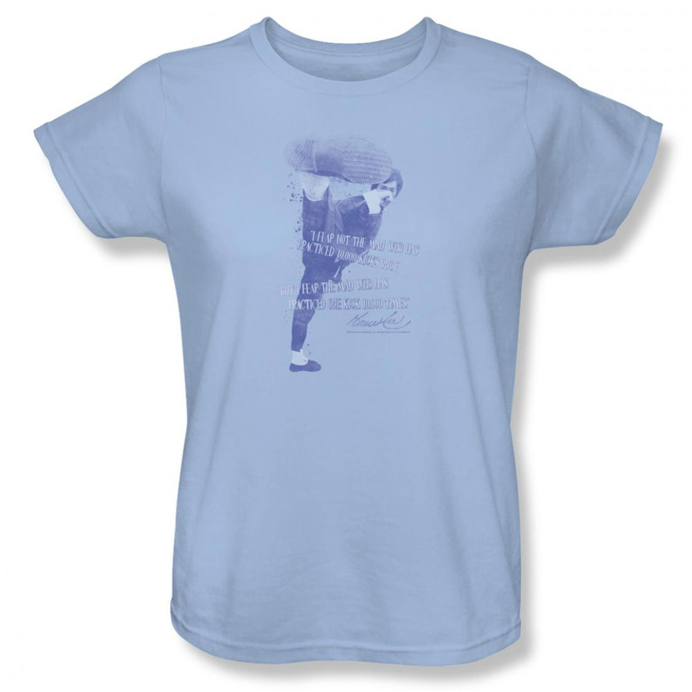 bruce lee womens t shirt bruce lee light blue. Black Bedroom Furniture Sets. Home Design Ideas