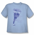 Bruce Lee youth teen t-shirt 10,000 Kicks light blue
