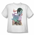 Bruce Lee youth teen t-shirt A Little Bruce white