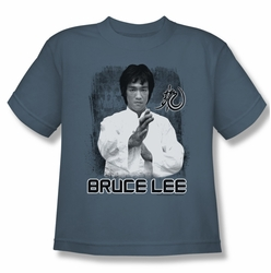 Bruce Lee youth teen t-shirt Concentrate slate