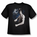 Bruce Lee youth teen t-shirt Dragon Stance black