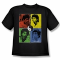 Bruce Lee youth teen t-shirt Enter Color Block black