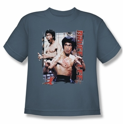 Bruce Lee youth teen t-shirt Enter slate
