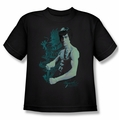 Bruce Lee youth teen t-shirt Feel black