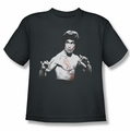Bruce Lee youth teen t-shirt Final Confrontation charcoal