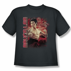 Bruce Lee youth teen t-shirt Fury charcoal