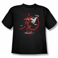 Bruce Lee youth teen t-shirt High Flying black