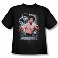 Bruce Lee youth teen t-shirt Inner Fury black