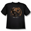 Bruce Lee youth teen t-shirt Jeet Kun Do Pose black
