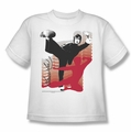 Bruce Lee youth teen t-shirt Kick It white