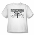 Bruce Lee youth teen t-shirt Kick To The Head white