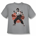 Bruce Lee youth teen t-shirt Meaning of Life silver