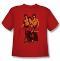 Bruce Lee youth teen t-shirt Nunchucks red