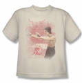 Bruce Lee youth teen t-shirt Power Of The Dragon cream