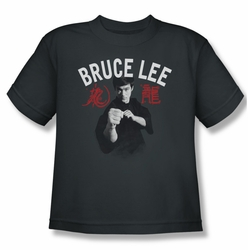 Bruce Lee youth teen t-shirt Ready charcoal