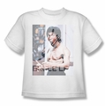 Bruce Lee youth teen t-shirt Revving Up white