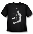 Bruce Lee youth teen t-shirt Stance black