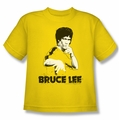Bruce Lee youth teen t-shirt Suit Splatter yellow