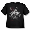 Bruce Lee youth teen t-shirt The Dragon black
