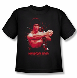 Bruce Lee youth teen t-shirt The Shattering Fist black