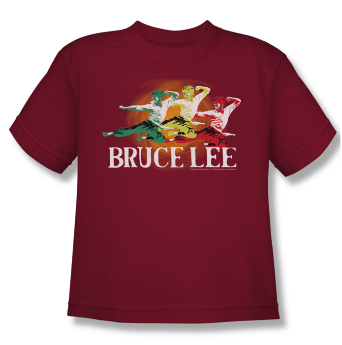 Bruce lee youth teen t shirt tri color cardinal for Cardinal color t shirts