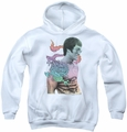 Bruce Lee youth teen hoodie A Little Bruce white