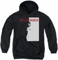 Bruce Lee youth teen hoodie Badass black