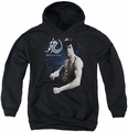Bruce Lee youth teen hoodie Dragon Stance black