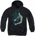 Bruce Lee youth teen hoodie Feel black