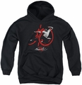 Bruce Lee youth teen hoodie High Flying black