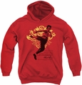 Bruce Lee youth teen hoodie Immortal Dragon red