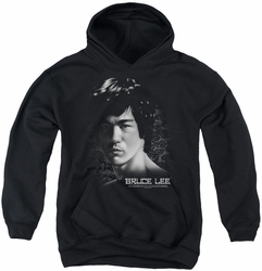 Bruce Lee youth teen hoodie In Your Face black