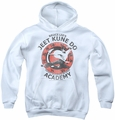 Bruce Lee youth teen hoodie Jeet Kune white