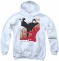 Bruce Lee youth teen hoodie Kick It white