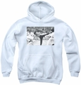 Bruce Lee youth teen hoodie Kick To The Head white