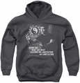 Bruce Lee youth teen hoodie No Way As A Way charcoal