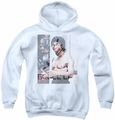 Bruce Lee youth teen hoodie Revving Up white