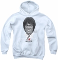 Bruce Lee youth teen hoodie Self Help white